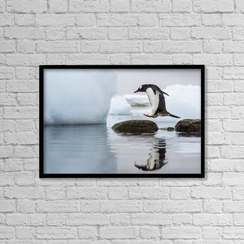 """Printscapes Wall Art: 18"""" x 12"""" Canvas Print With Black Frame - Creative Imagery by Paul Souders"""