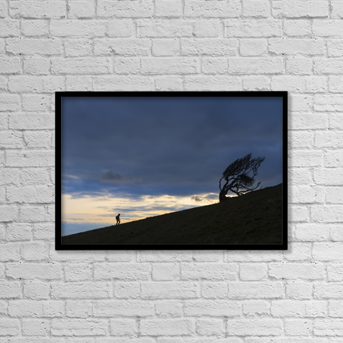 "Printscapes Wall Art: 18"" x 12"" Canvas Print With Black Frame - Lifestyle by Ian Cumming"