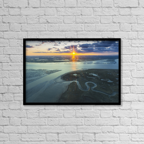 "Printscapes Wall Art: 18"" x 12"" Canvas Print With Black Frame - Scenic by Carl Johnson"