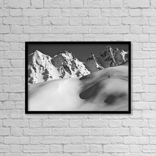 "Printscapes Wall Art: 18"" x 12"" Canvas Print With Black Frame - Sports and Recreation by Zach Clanton"