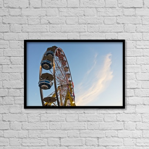 "Printscapes Wall Art: 18"" x 12"" Canvas Print With Black Frame - Amusement Ride At Capital Ex Fairgrounds by LJM Photo"