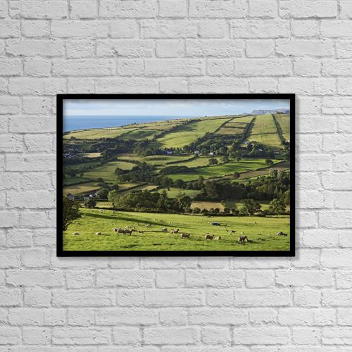 "Printscapes Wall Art: 18"" x 12"" Canvas Print With Black Frame - Farmland Near Knocknacar, Glens Of Antrim by Carl Bruemmer"