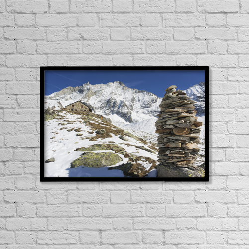 "Printscapes Wall Art: 18"" x 12"" Canvas Print With Black Frame - Travel by Penny Kendall"