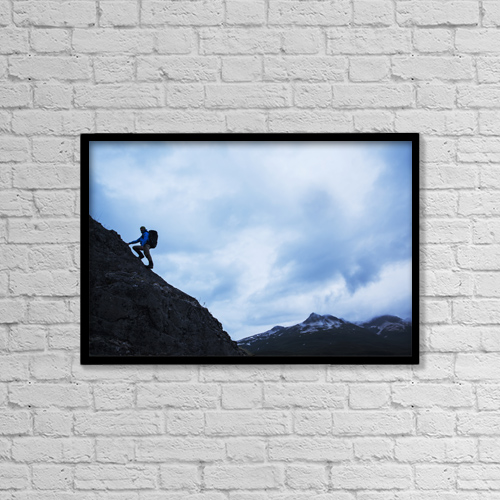 "Printscapes Wall Art: 18"" x 12"" Canvas Print With Black Frame - Sports and Recreation by Paul Souders"