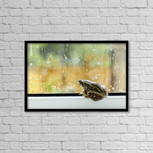 "Printscapes Wall Art: 18"" x 12"" Canvas Print With Black Frame - Animals by Alanna Dumonceaux"
