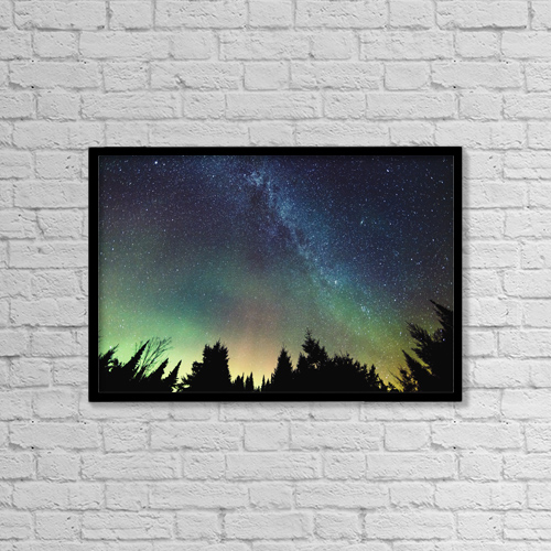"""Printscapes Wall Art: 18"""" x 12"""" Canvas Print With Black Frame - Astronomy by Yves Marcoux"""