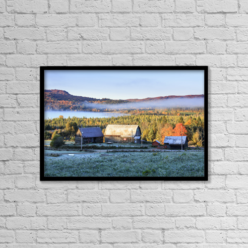 "Printscapes Wall Art: 18"" x 12"" Canvas Print With Black Frame - Architectural Exteriors by Yves Marcoux"