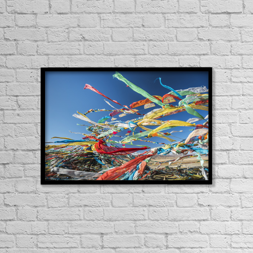 "Printscapes Wall Art: 18"" x 12"" Canvas Print With Black Frame - Religious by Sergey Orlov"
