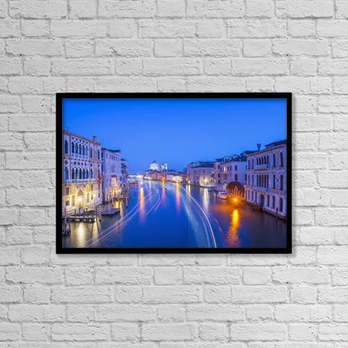 "Printscapes Wall Art: 18"" x 12"" Canvas Print With Black Frame - Christian Faith by Mats Silvan"