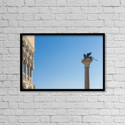 """Printscapes Wall Art: 18"""" x 12"""" Canvas Print With Black Frame - Architectural Exteriors by Mats Silvan"""
