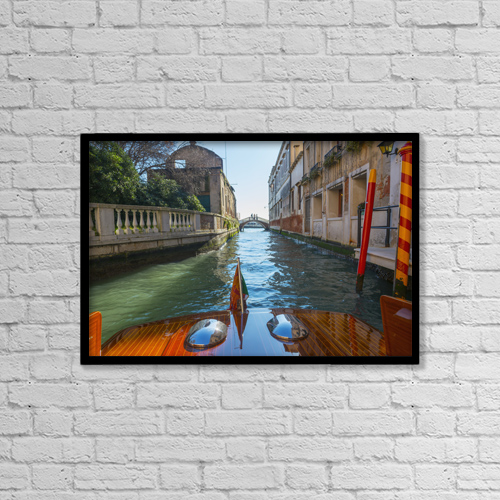 "Printscapes Wall Art: 18"" x 12"" Canvas Print With Black Frame - People by Mats Silvan"