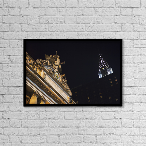 "Printscapes Wall Art: 18"" x 12"" Canvas Print With Black Frame - Architectural Exteriors by Kate Williams"