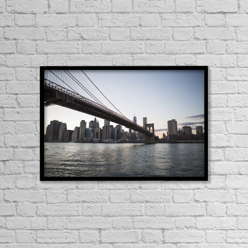 "Printscapes Wall Art: 18"" x 12"" Canvas Print With Black Frame - Travel by Kate Williams"