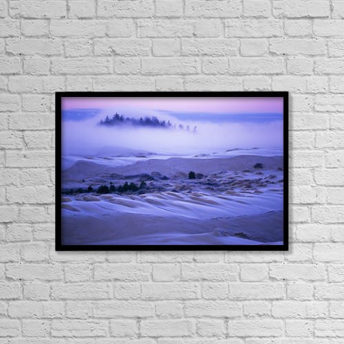 """Printscapes Wall Art: 18"""" x 12"""" Canvas Print With Black Frame - Weather by Robert L. Potts"""
