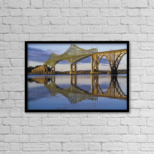 "Printscapes Wall Art: 18"" x 12"" Canvas Print With Black Frame - Architectural Exteriors by Robert L. Potts"