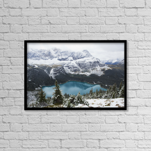 "Printscapes Wall Art: 18"" x 12"" Canvas Print With Black Frame - Lake O'hara In Yoho National Park by Carl Bruemmer"