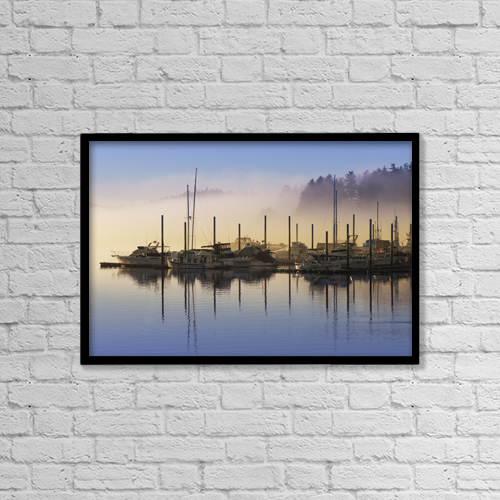 "Printscapes Wall Art: 18"" x 12"" Canvas Print With Black Frame - Nautical by John Hyde"