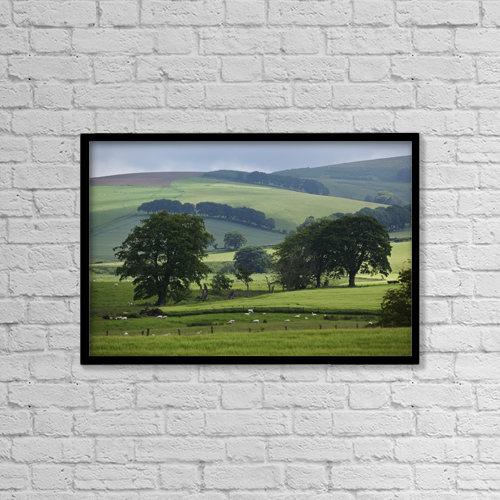 """Printscapes Wall Art: 18"""" x 12"""" Canvas Print With Black Frame - Landscape Near Thirlestane by Carl Bruemmer"""