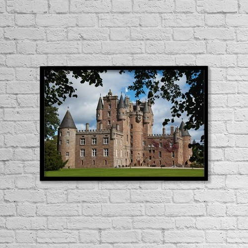"Printscapes Wall Art: 18"" x 12"" Canvas Print With Black Frame - Glamis Castle Near Forfar by Carl Bruemmer"