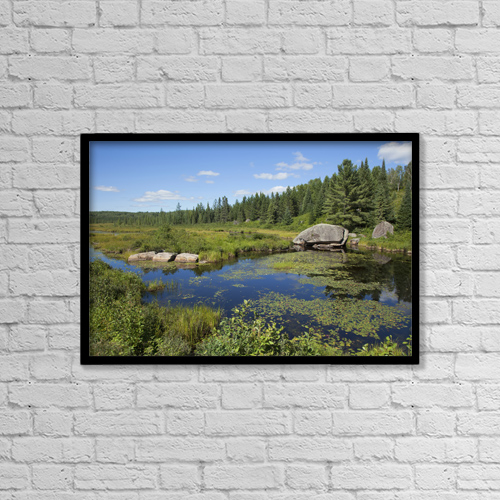 "Printscapes Wall Art: 18"" x 12"" Canvas Print With Black Frame - Lake Opeongo, Algonquin Provincial Park by Carl Bruemmer"