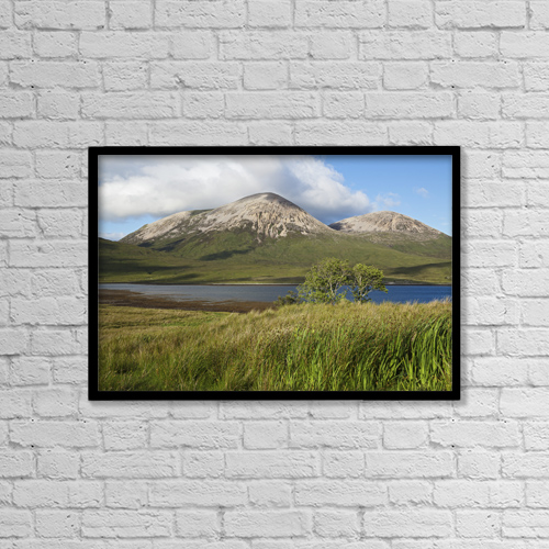 "Printscapes Wall Art: 18"" x 12"" Canvas Print With Black Frame - View Towards Quillin Hills by Carl Bruemmer"