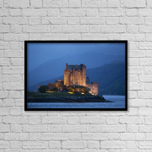 "Printscapes Wall Art: 18"" x 12"" Canvas Print With Black Frame - Eilean Donan Castle by Carl Bruemmer"