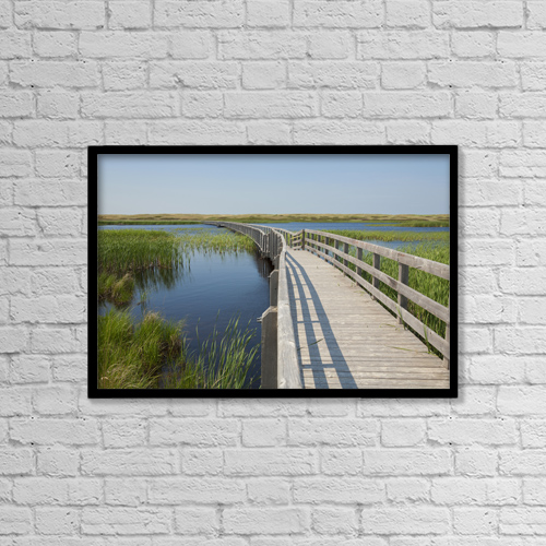 "Printscapes Wall Art: 18"" x 12"" Canvas Print With Black Frame - Architectural Exteriors by Carl Bruemmer"