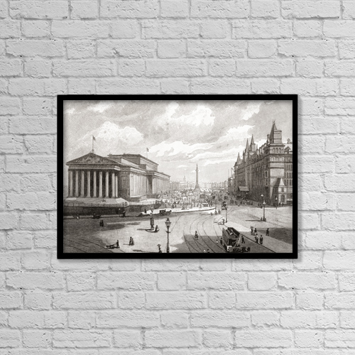 """Printscapes Wall Art: 18"""" x 12"""" Canvas Print With Black Frame - St by Ken Welsh"""