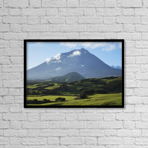 "Printscapes Wall Art: 18"" x 12"" Canvas Print With Black Frame - Pico Mountain by Carl Bruemmer"