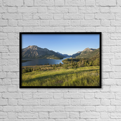"Printscapes Wall Art: 18"" x 12"" Canvas Print With Black Frame - Travel by Carl Bruemmer"