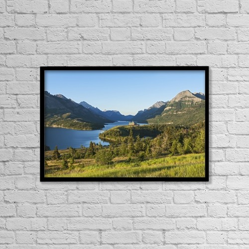 """Printscapes Wall Art: 18"""" x 12"""" Canvas Print With Black Frame - Travel by Carl Bruemmer"""