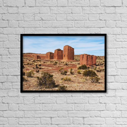 "Printscapes Wall Art: 18"" x 12"" Canvas Print With Black Frame - Historic & Vintage by Carl Bruemmer"