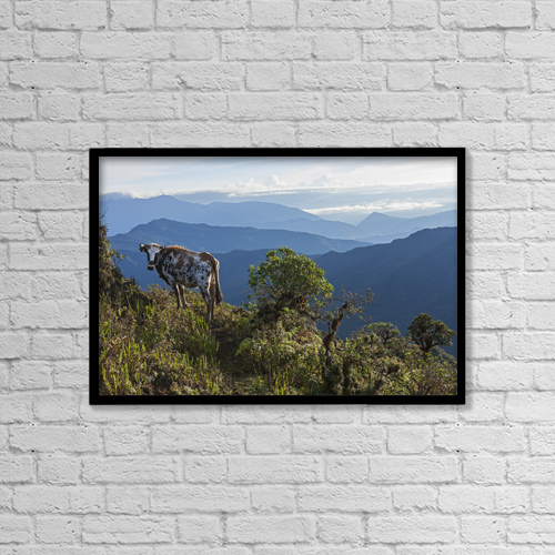 "Printscapes Wall Art: 18"" x 12"" Canvas Print With Black Frame - Mountain Range East Of Pojo by Carl Bruemmer"