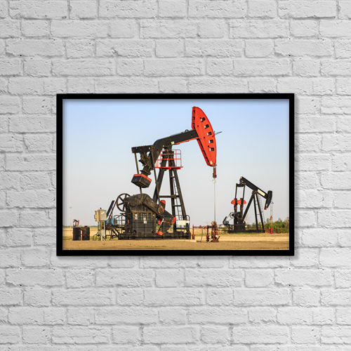 "Printscapes Wall Art: 18"" x 12"" Canvas Print With Black Frame - Industry by Ken Gillespie"