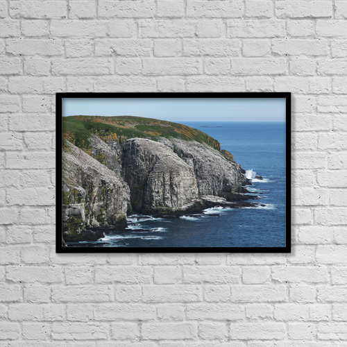 "Printscapes Wall Art: 18"" x 12"" Canvas Print With Black Frame - Cape St by Carl Bruemmer"