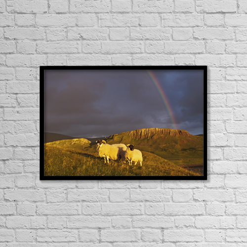 """Printscapes Wall Art: 18"""" x 12"""" Canvas Print With Black Frame - Weather by Carl Bruemmer"""