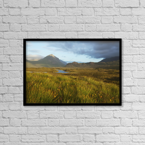 "Printscapes Wall Art: 18"" x 12"" Canvas Print With Black Frame - Mountain Ridge Cuillin by Carl Bruemmer"