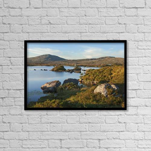"""Printscapes Wall Art: 18"""" x 12"""" Canvas Print With Black Frame - Landscape Along The Coast by Carl Bruemmer"""