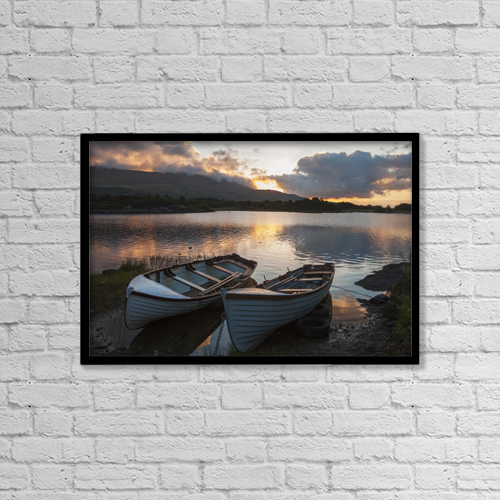 "Printscapes Wall Art: 18"" x 12"" Canvas Print With Black Frame - Nautical by Carl Bruemmer"