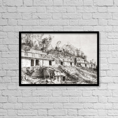 """Printscapes Wall Art: 18"""" x 12"""" Canvas Print With Black Frame - Creative Imagery by Ken Welsh"""