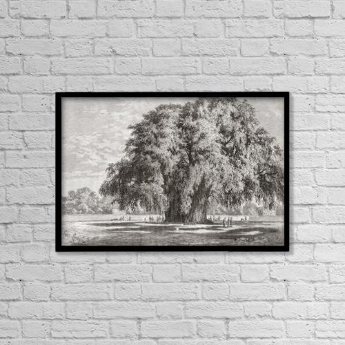 "Printscapes Wall Art: 18"" x 12"" Canvas Print With Black Frame - Santa Mar by Ken Welsh"