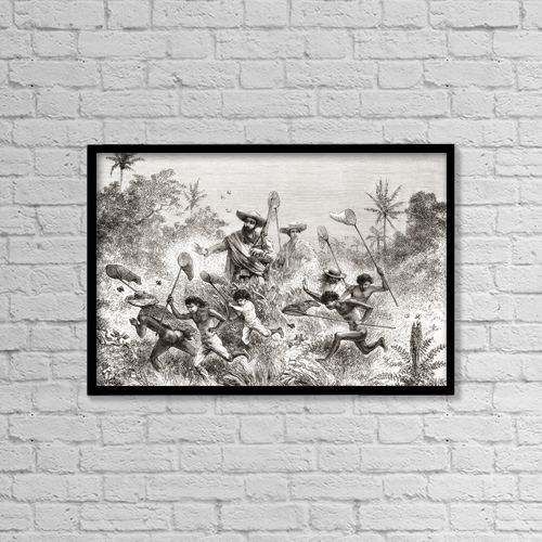 """Printscapes Wall Art: 18"""" x 12"""" Canvas Print With Black Frame - by Ken Welsh"""