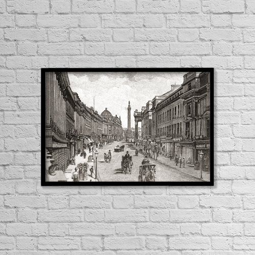 "Printscapes Wall Art: 18"" x 12"" Canvas Print With Black Frame - Creative Imagery by Ken Welsh"