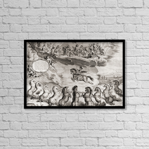 """Printscapes Wall Art: 18"""" x 12"""" Canvas Print With Black Frame - Illustration From The Book M by Ken Welsh"""