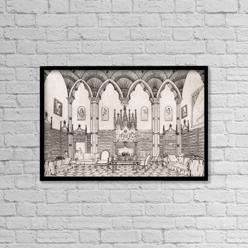"Printscapes Wall Art: 18"" x 12"" Canvas Print With Black Frame - Welbeck Abbey, Nottinghamshire, England by Ken Welsh"