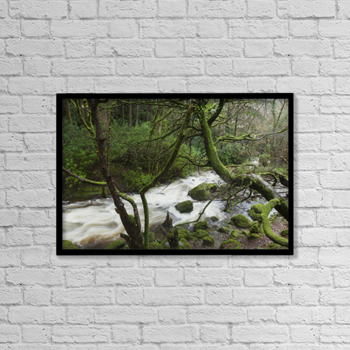 """Printscapes Wall Art: 18"""" x 12"""" Canvas Print With Black Frame - Scenic by Carl Bruemmer"""