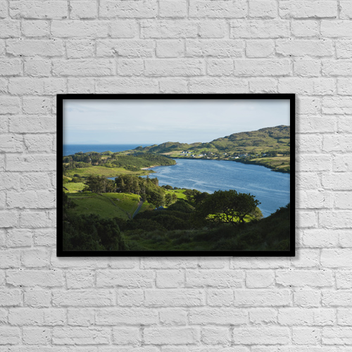 "Printscapes Wall Art: 18"" x 12"" Canvas Print With Black Frame - Donegal Bay by Carl Bruemmer"