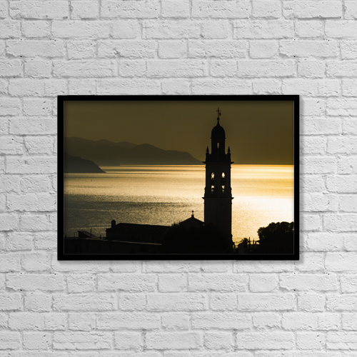"""Printscapes Wall Art: 18"""" x 12"""" Canvas Print With Black Frame - Christian Faith by Yves Marcoux"""