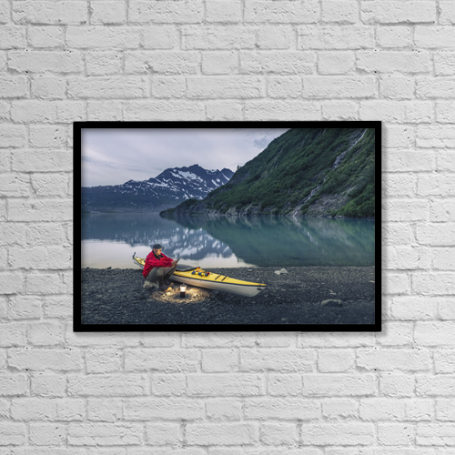 "Printscapes Wall Art: 18"" x 12"" Canvas Print With Black Frame - Sports and Recreation by Kevin G. Smith"