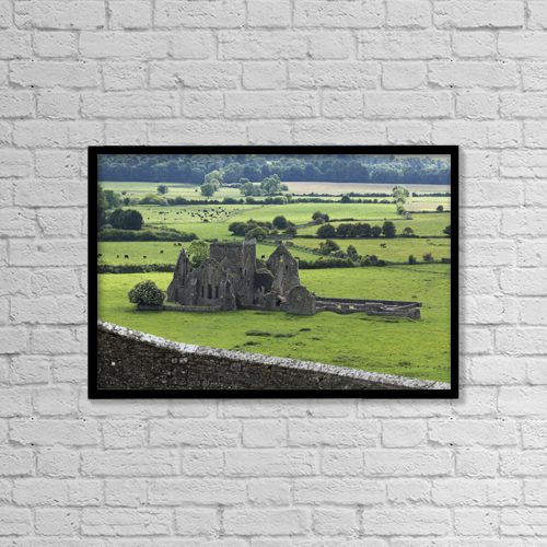 "Printscapes Wall Art: 18"" x 12"" Canvas Print With Black Frame - Hore Abbey Near Cashel by Carl Bruemmer"